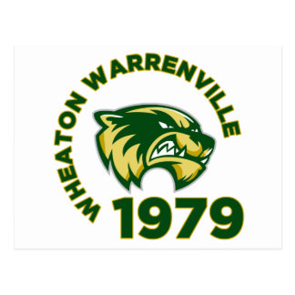 High School secundaria de Wheaton Warrenville Tarjeta Postal