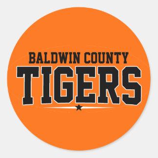 High School secundaria del condado de Baldwin; Pegatina Redonda