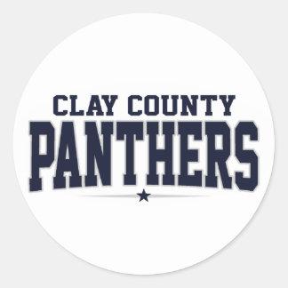 High School secundaria del condado de Clay; Etiqueta Redonda