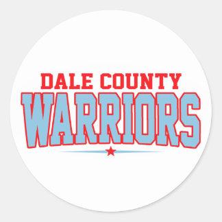 High School secundaria del condado de Dale; Pegatinas Redondas