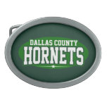 High School secundaria del condado de Dallas; Avis Hebilla De Cinturon Oval