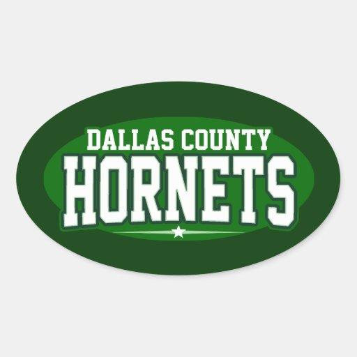 High School secundaria del condado de Dallas; Colcomanias Oval Personalizadas