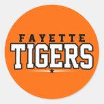 High School secundaria del condado de Fayette; Etiqueta Redonda