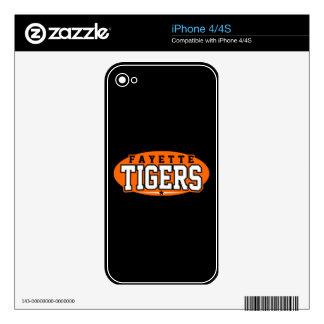 High School secundaria del condado de Fayette; Tig iPhone 4 Skins