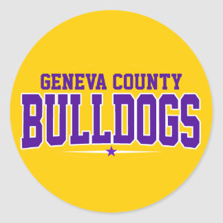 High School secundaria del condado de Geneva; Pegatina Redonda