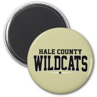 High School secundaria del condado de Hale; Gatos  Imán Redondo 5 Cm