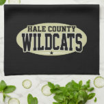 High School secundaria del condado de Hale; Gatos  Toallas De Mano