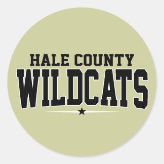 High School secundaria del condado de Hale; Gatos Etiqueta Redonda