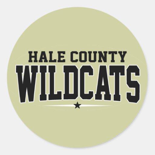 High School secundaria del condado de Hale; Gatos Pegatina Redonda
