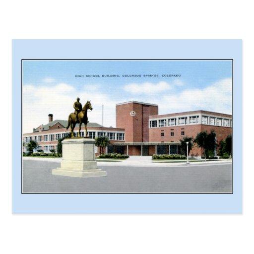 High School secundaria del vintage, Colorado Postal
