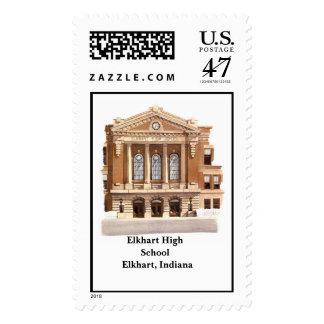 High School secundaria Elkhart de Elkhart, ADENTRO Timbres Postales