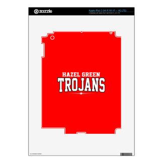 High School secundaria verde parda; Trojan iPad 3 Pegatina Skin