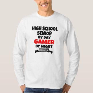 High School Senior by Day Gamer by Night T-Shirt