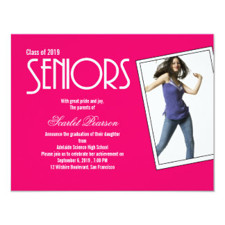 High School Seniors Graduation Party Invitation
