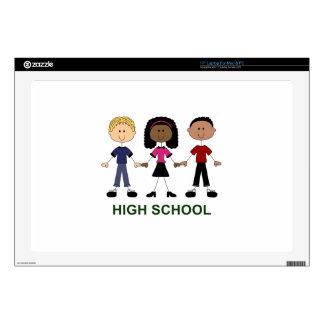 High School Stick Figures Laptop Decals