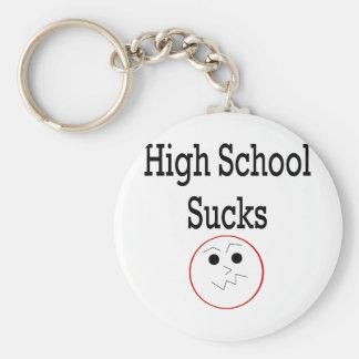 High School Sucks Basic Round Button Keychain