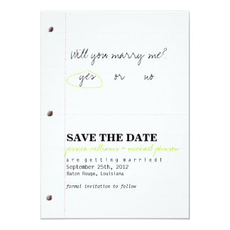 High School Sweethearts Save the Date 5x7 Paper Invitation Card