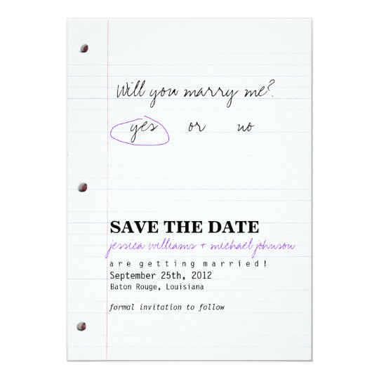 High School Sweethearts Save the Date Card