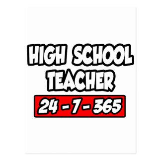 High School Teacher 24-7-365 Postcard