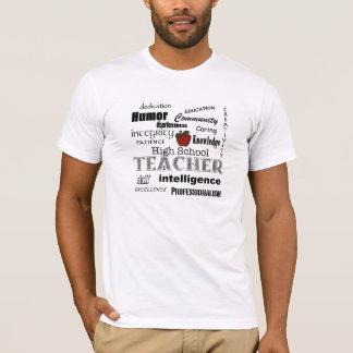 High School Teacher Attributes+Red Apple T-Shirt