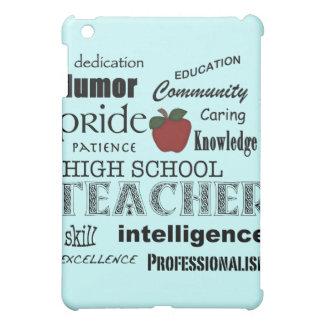 High School Teacher Pride+Red Apple-Light Blue Case For The iPad Mini