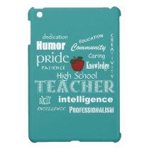 High School Teacher Pride Red Apple-Soft Blue Cover For The iPad Mini