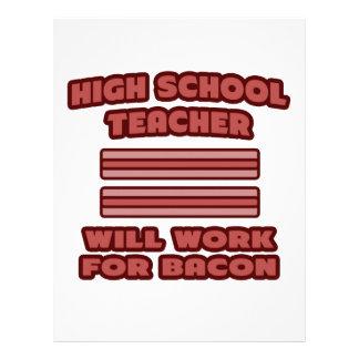 High School Teacher .. Will Work For Bacon Letterhead Template