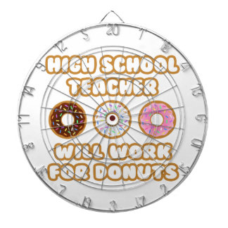 High School Teacher .. Will Work For Donuts Dart Board