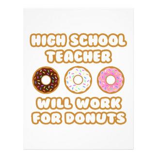 High School Teacher .. Will Work For Donuts Letterhead
