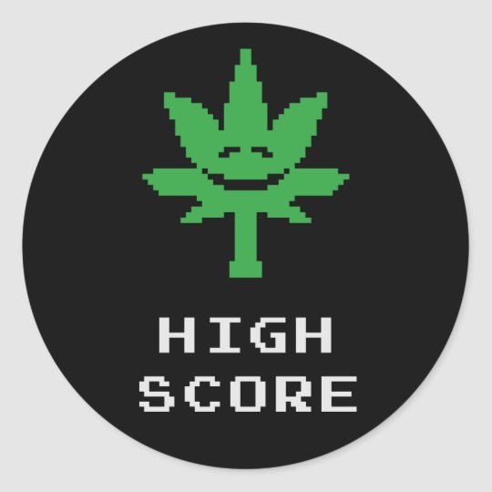 High Score Classic Round Sticker