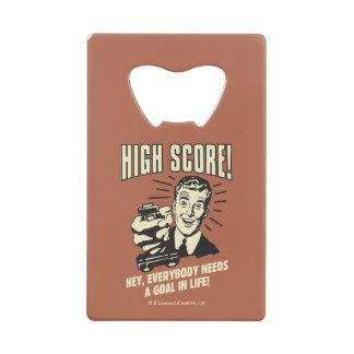 High Score: Everybody Needs Goal Life Credit Card Bottle Opener