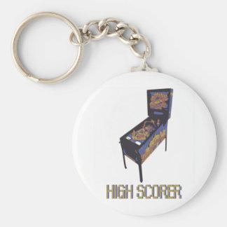 High Scorer Basic Round Button Keychain