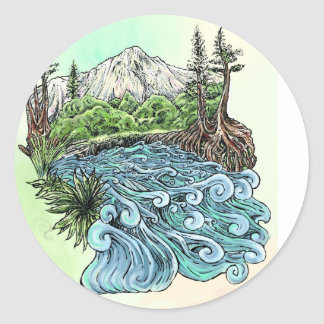 High Sierra Classic Round Sticker