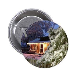 High Sierra Holiday Pinback Button