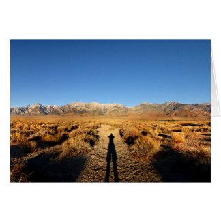 High Sierra Nevada Mountain Range Card