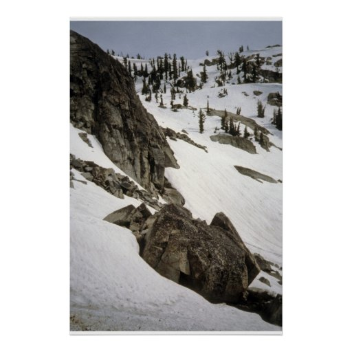 High Sierra Rock and Snow Poster