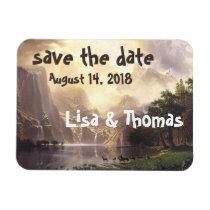 High Sierras Waterfall Vista Save Date Magnet