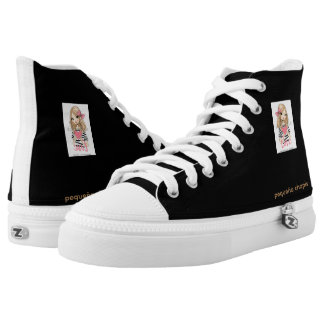 High sneakers Top Small Chapis black color Printed Shoes