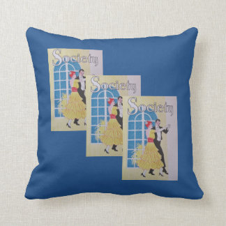 High Society - Vintage Couple Dancing Throw Pillow