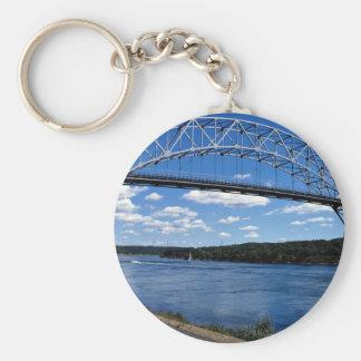 High spanning Bourne Bridge, highest in New Englan Keychains