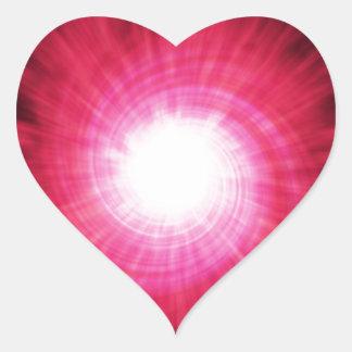 High speed background heart sticker