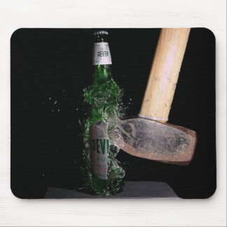 High speed bottle smash mousemat mouse pad