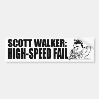 High-Speed Fail Car Bumper Sticker
