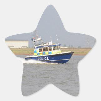 High Speed Police Boat Star Sticker