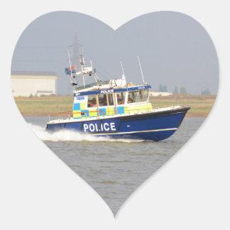 High Speed Police Boat Sticker