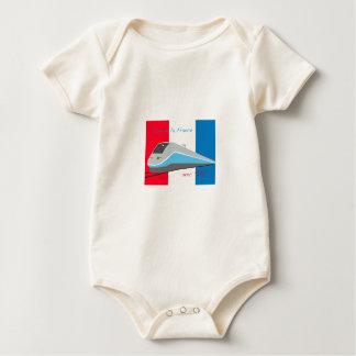 High Speed Rail Travel Baby Bodysuit