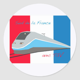 High Speed Rail Travel Classic Round Sticker