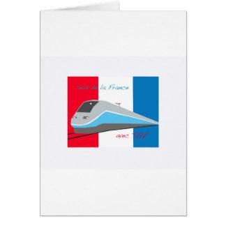 High Speed Rail Travel Greeting Card