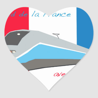 High Speed Rail Travel Heart Sticker