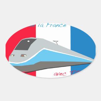 High Speed Rail Travel Oval Sticker